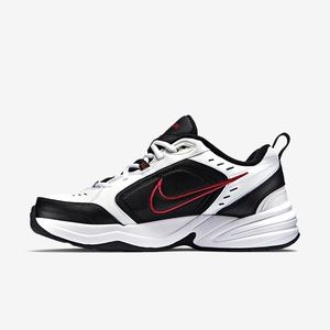 Nike Air Monarch IV in black and red